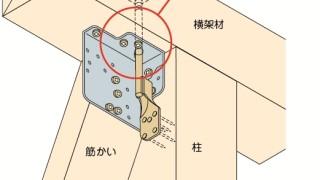 筋かい金物の施工~羽子板ボルトと筋かい金物の干渉~誤った取付け方2-5-×
