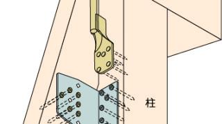 筋かい金物の施工~羽子板ボルトと筋かい金物の干渉~対応方法2-5-○