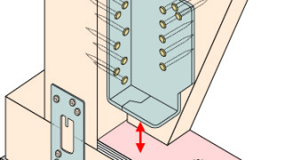 筋かい金物の施工~ボックス型の二面施工~誤った取付け方2-8-×