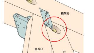 かど金物(プレートタイプ)の施工~座彫りとの干渉~誤った取付け方3-4-×