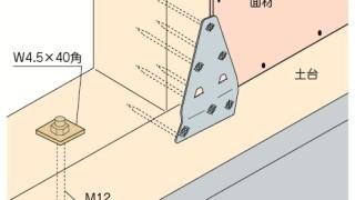 かど金物(プレートタイプ)の施工~面材との干渉~誤った取付け方3-5-×