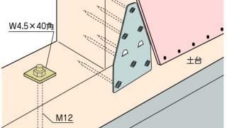 かど金物(プレートタイプ)の施工~面材との干渉~正しい取付け方3-5-○