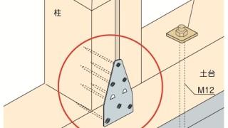 かど金物(プレートタイプ)の施工~背割り柱との干渉~誤った取付け方3-6-×