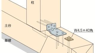 かど金物(コーナータイプ)の施工~金物の向き~誤った取付け方4-5-×