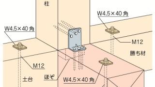 かど金物(コーナータイプ)の施工~仕口における位置誤り~不適な取付け方4-6-△
