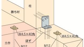 かど金物(コーナータイプ)の施工~仕口における位置誤り~正しい取付け方4-6-○