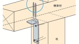 かど金物(コーナータイプ)の施工~ビスのサイズ誤り~正しい取付け方4-7-○