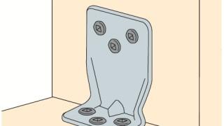かど金物(コーナータイプ)の施工~ビスの浮き・斜め打ち~正しい取付け方4-8-○