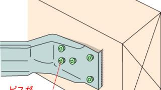 火打金物の施工~接合具の浮き~誤った取付け方5-8-×
