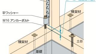 ホールダウン金物の施工~2個づかい~望ましい取付け方6-7-○