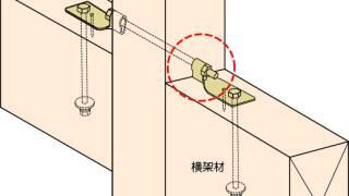 羽子板金物の施工~柱への接触~誤った取付け方7-2-×