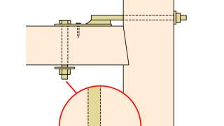 羽子板金物の施工~ナットの締め忘れ(増し締め)~誤った取付け方7-3-×