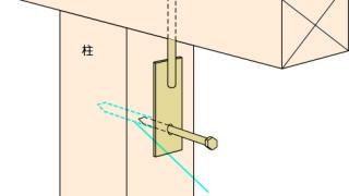 羽子板金物の施工~ラグスクリュー施工~正しい取付け方7-5-○