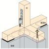その他金物の施工~基礎パッキンの配置~誤った取付け方8-1-×