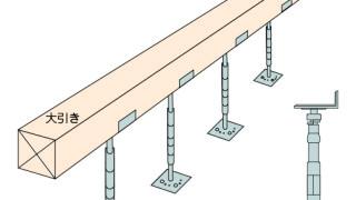 その他金物の施工~床束の施工位置(大引受金物)~誤った取付け方8-5-×